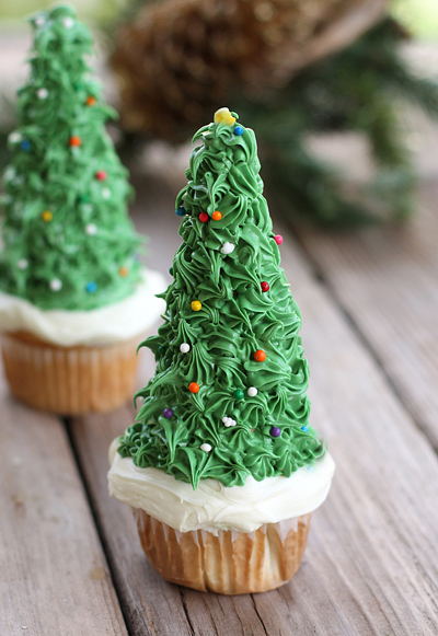 Cupcake Ice Cream Cone Christmas Trees