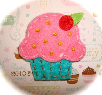 Cupcake with Sprinkles and Cherry