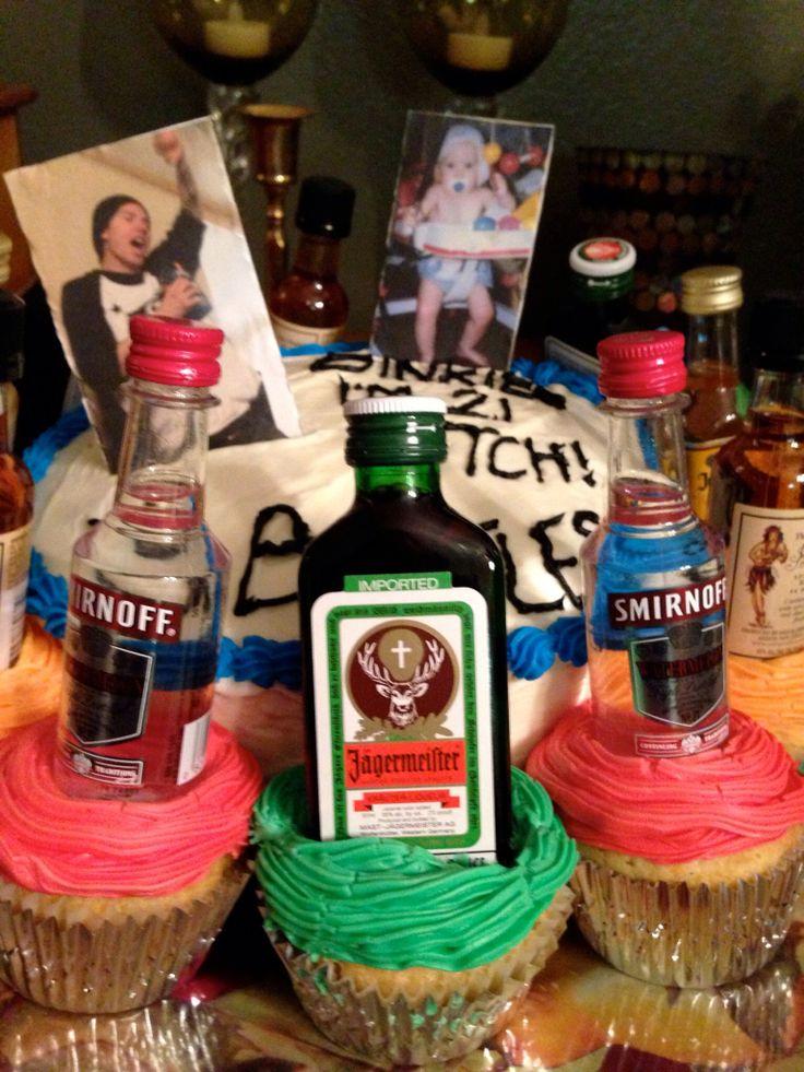 10 Photos of Mini Alcohol Bottle Cupcakes