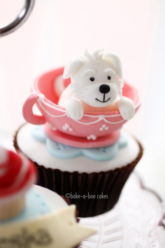 Cute Puppy Dog Cupcakes