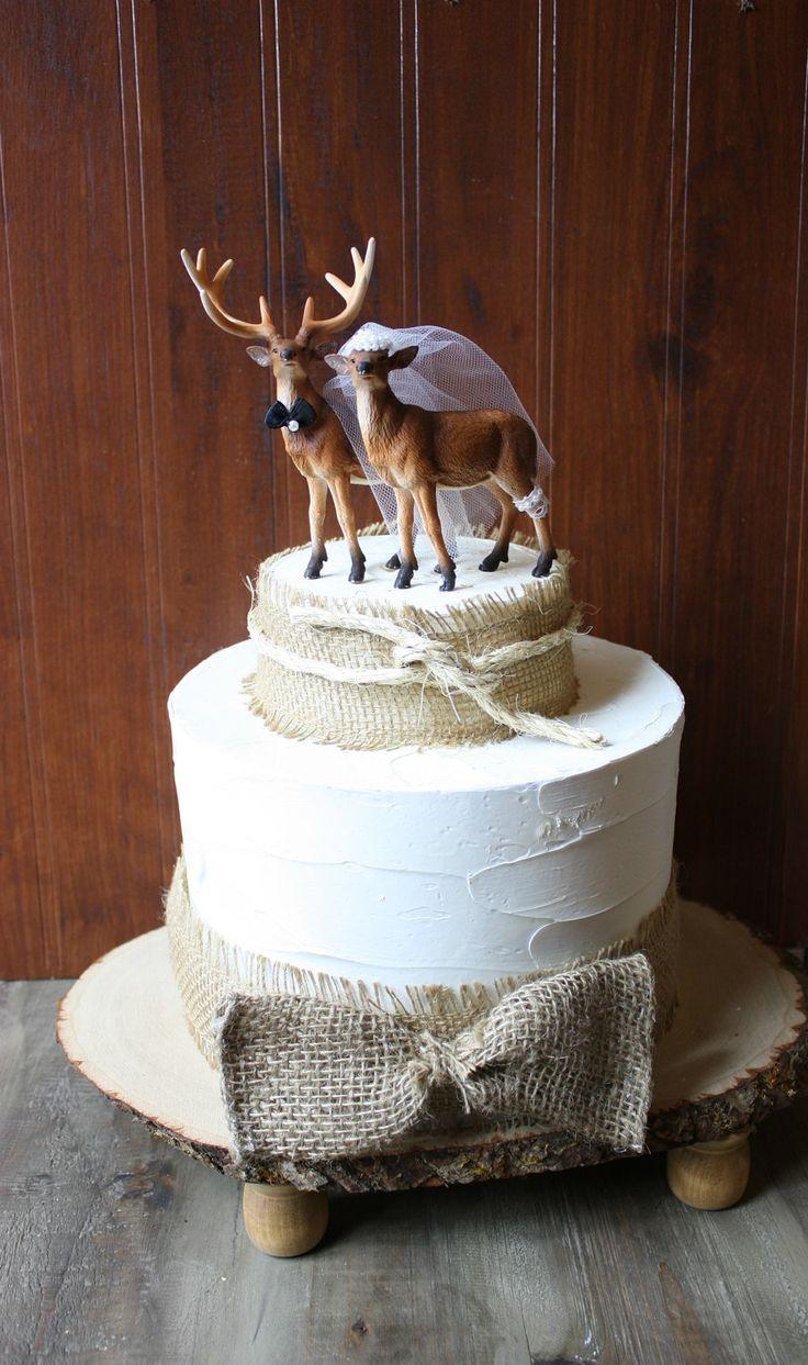 Deer and Doe Wedding Cake Topper