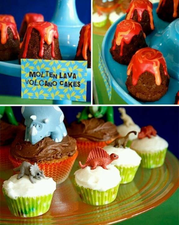 Dinosaur Birthday Party Cupcakes