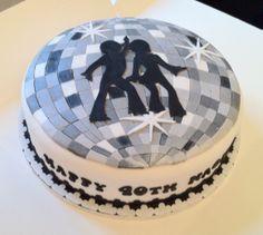 Disco Ball Birthday Cake