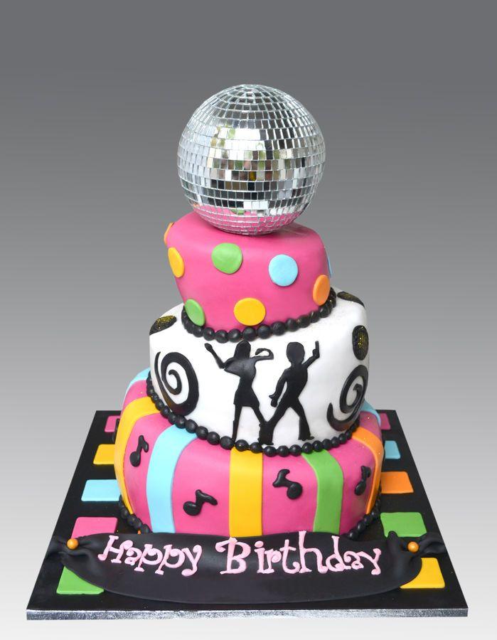Disco Dance Party Birthday Cake