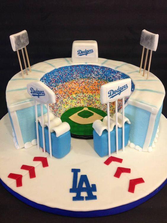 Dodger Stadium Cake