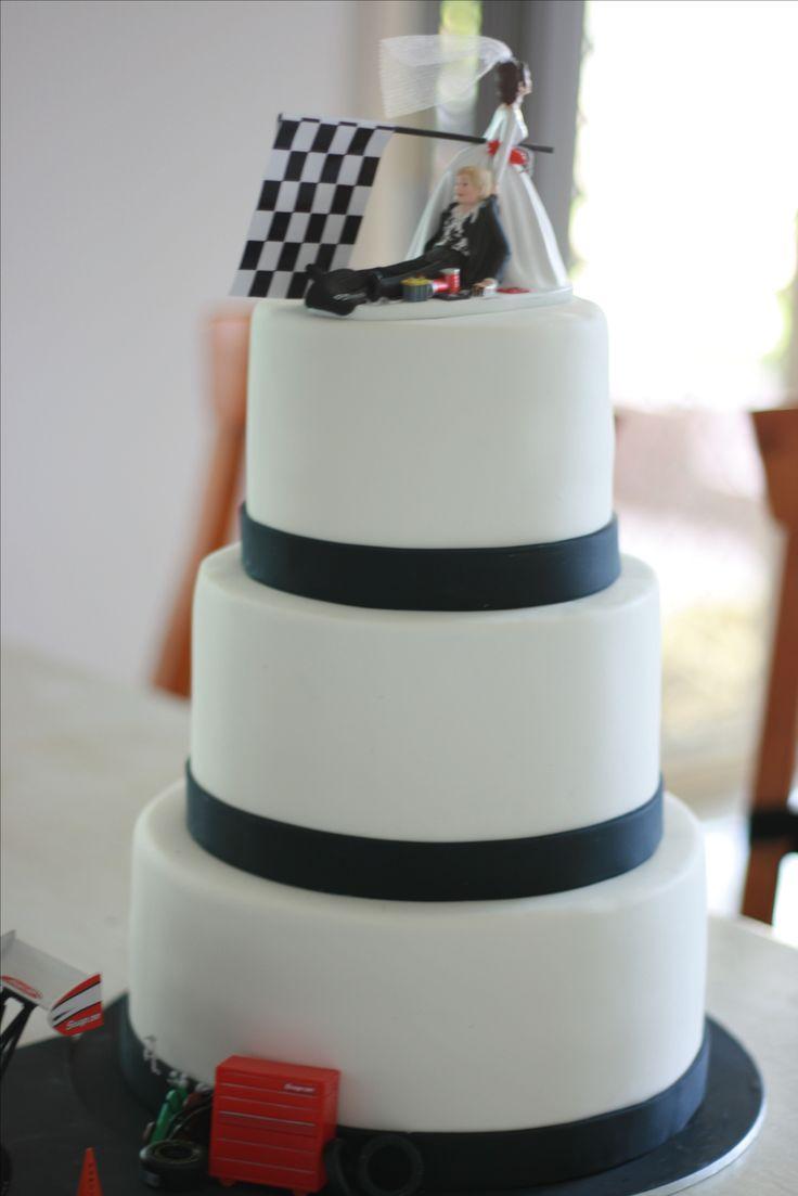 Drag Racing Wedding Cake