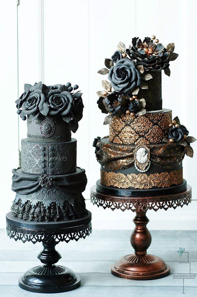Dramatically Gorgeous Wedding Cakes