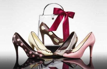 Edible Chocolate Shoes and Handbag