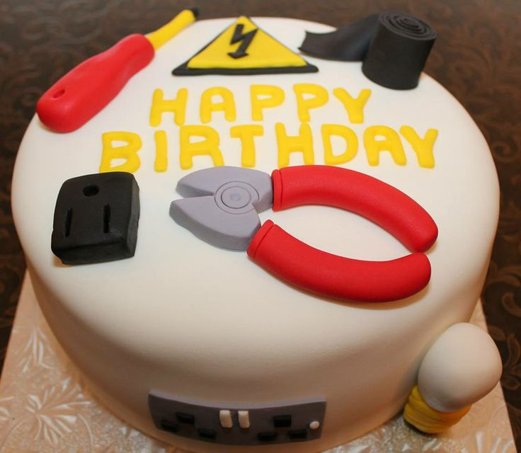 Electrician Themed Cake
