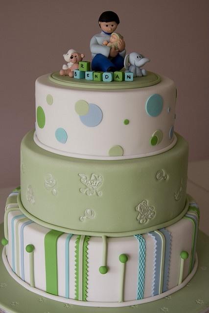 Elegant Boy Baby Shower Cake