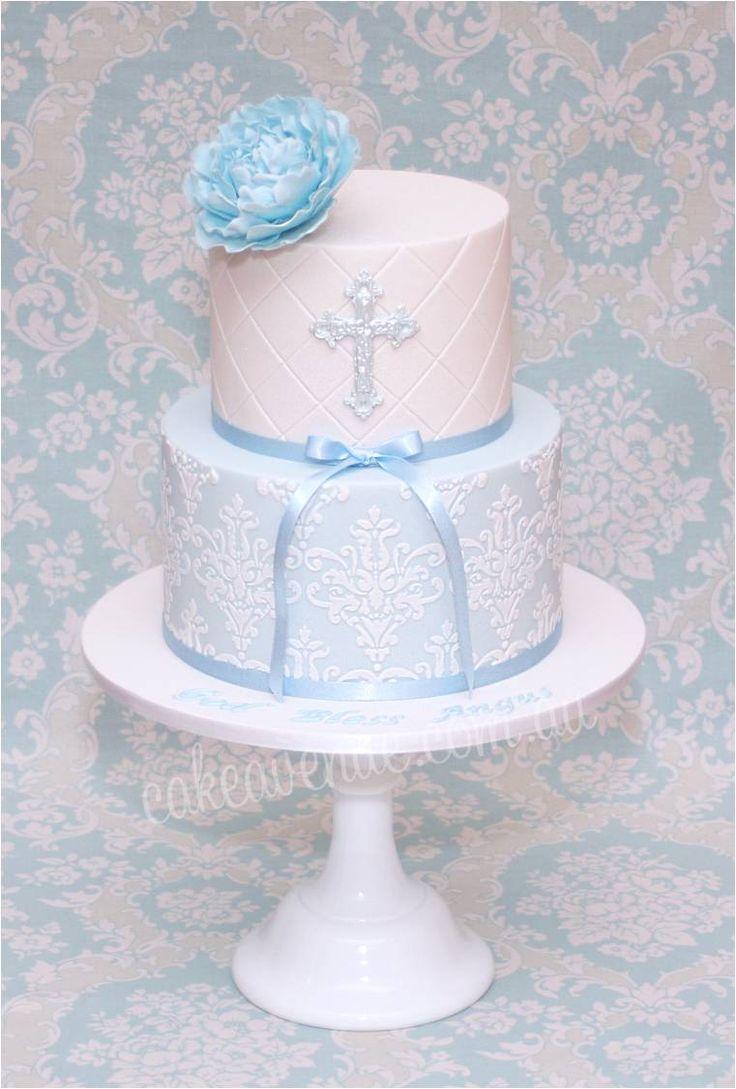 Elegant Christening Cakes for Boys