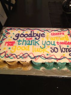 Fare Well Cake Decorating Ideas