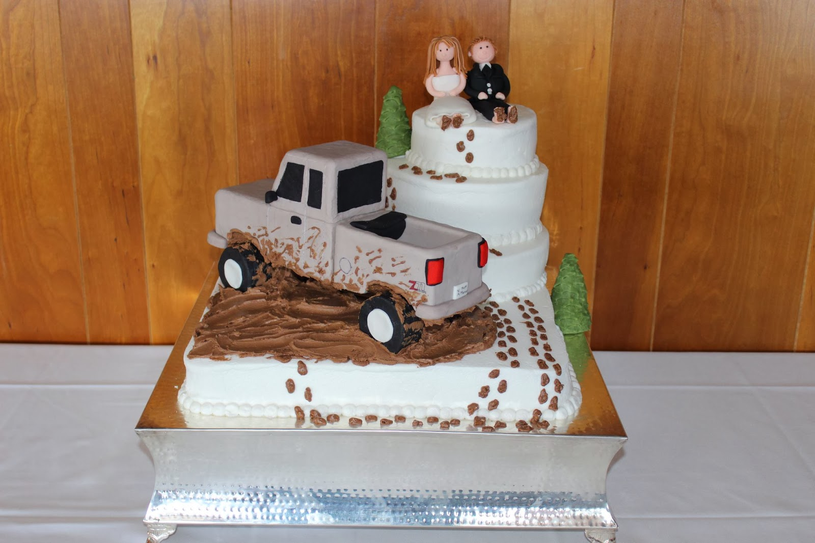 Figure Mud Truck Wedding Cake Toppers Viewing Gallery