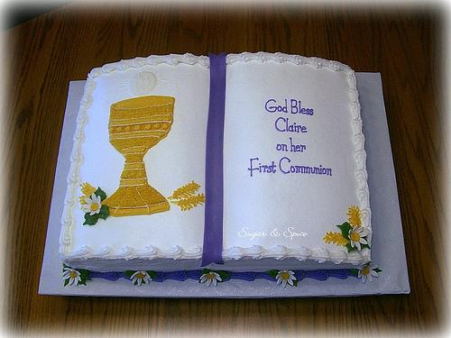 First Communion Fondant Cake