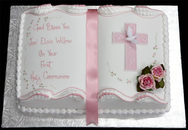 8 Photos of First Communion Cakes For Girls Book