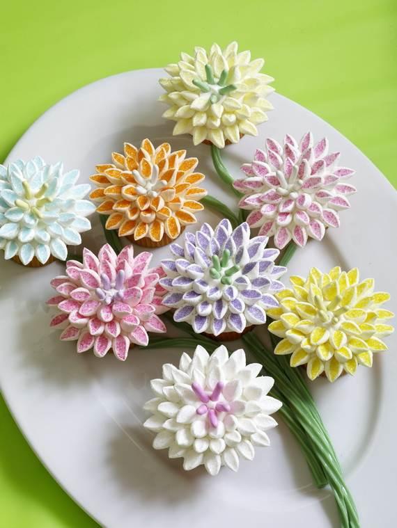 Flower Birthday Cupcakes