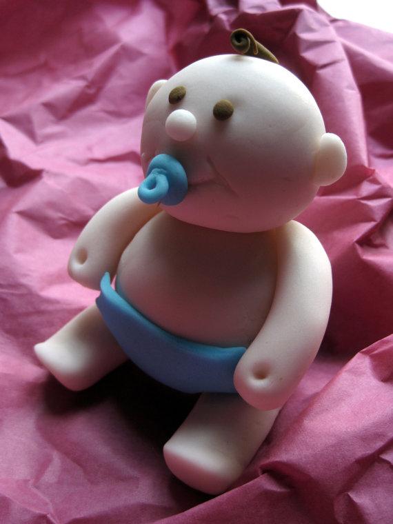 Fondant Edible Baby Cake Topper