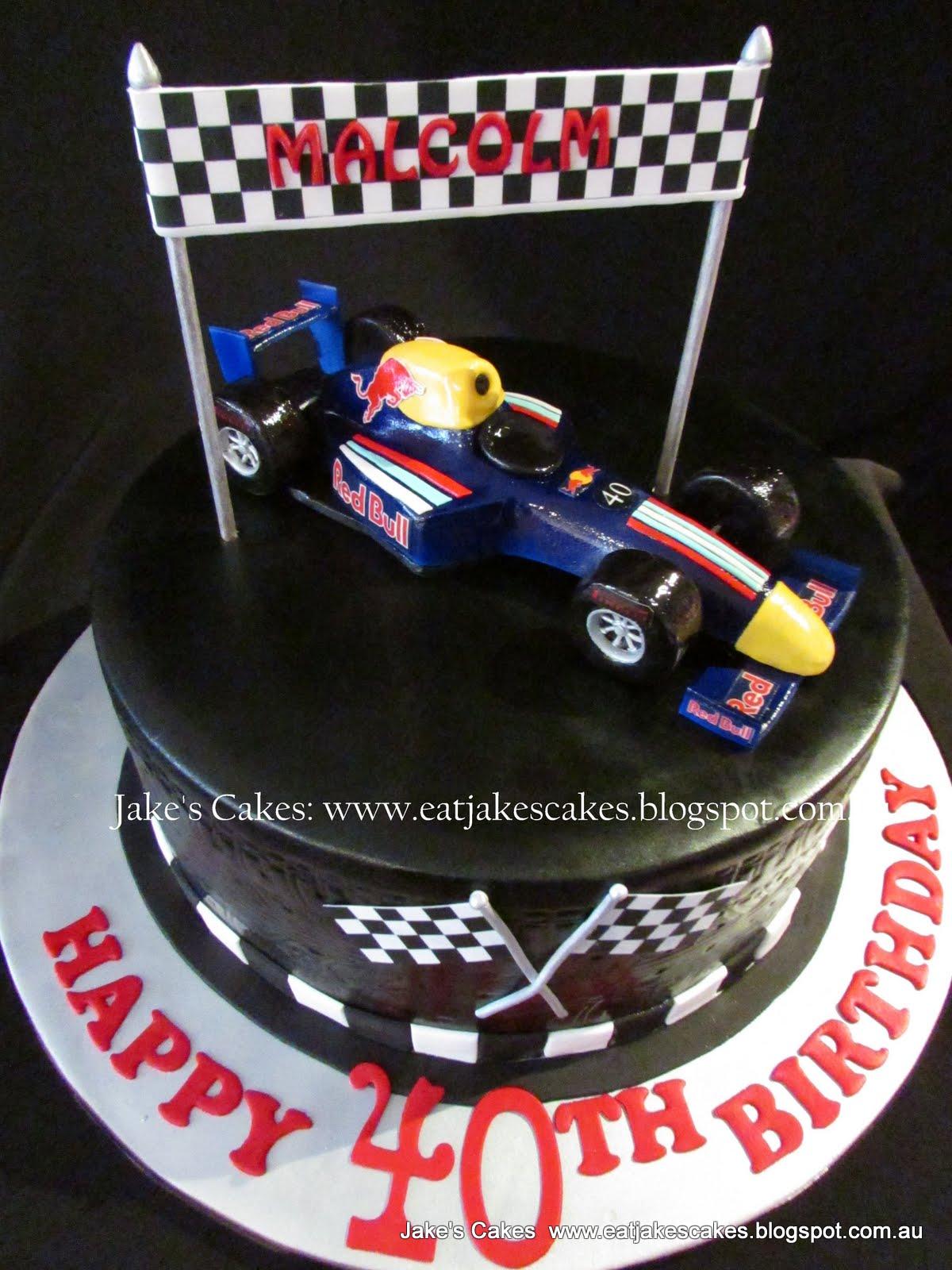 Formula 1 Racing Car Cake