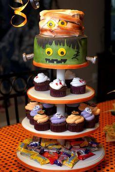 Halloween Cake Cupcake Tower