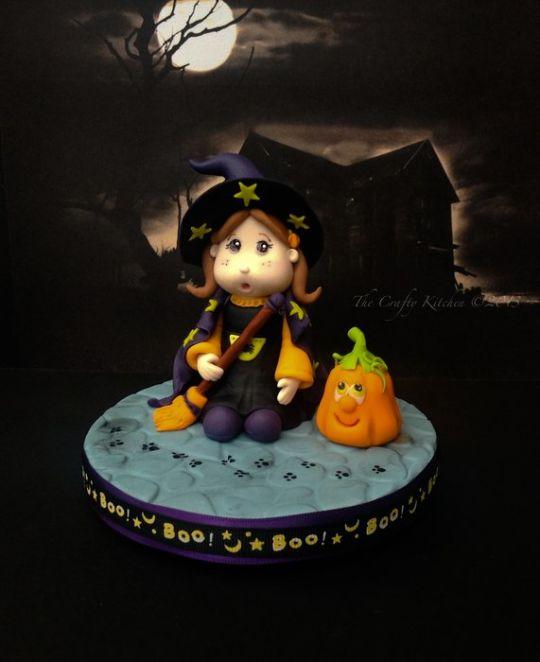 Halloween Fondant Witch Cake