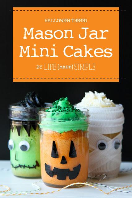 Halloween Mason Jar Cakes