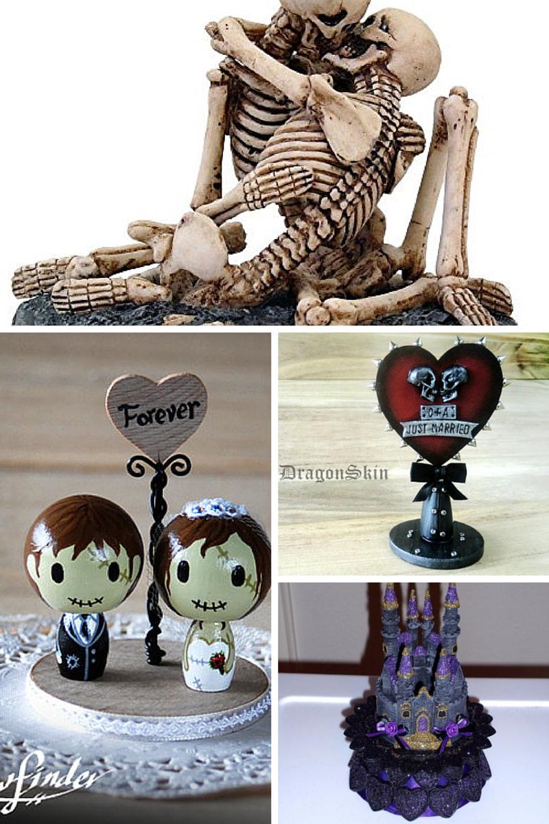 Halloween-themed Wedding Cakes
