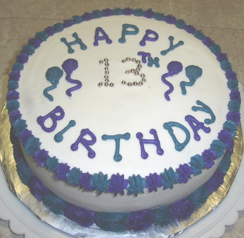 Happy 13 Birthday Cake