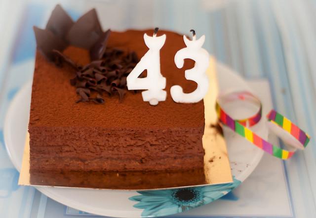 Happy 43 Birthday Cake