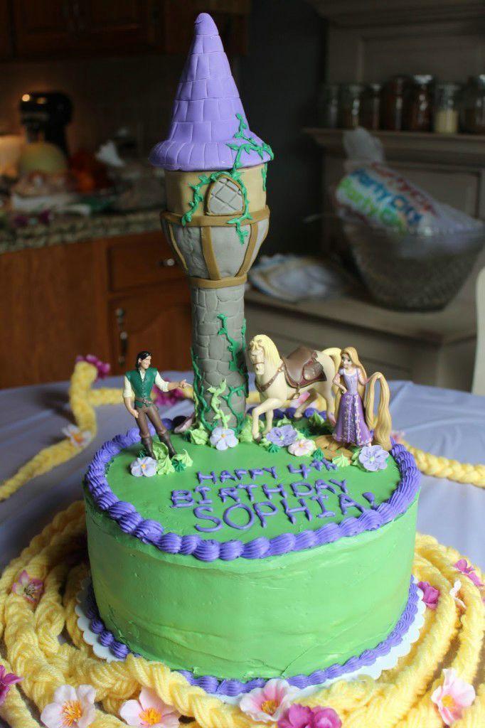 Happy Birthday Rapunzel Cake