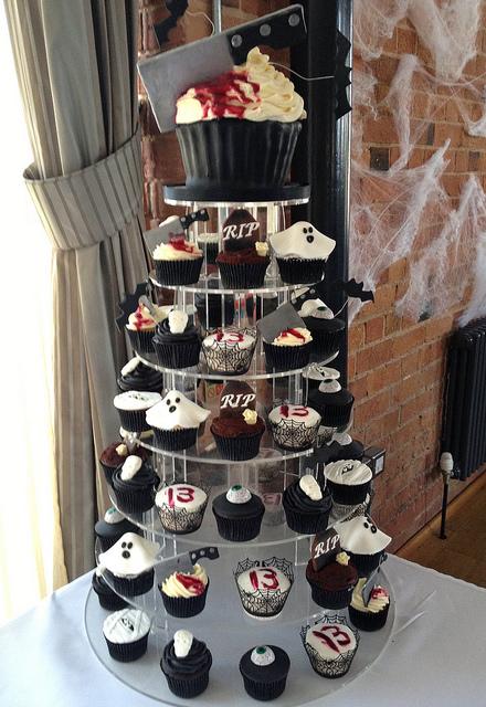 Horror Cupcake Tower