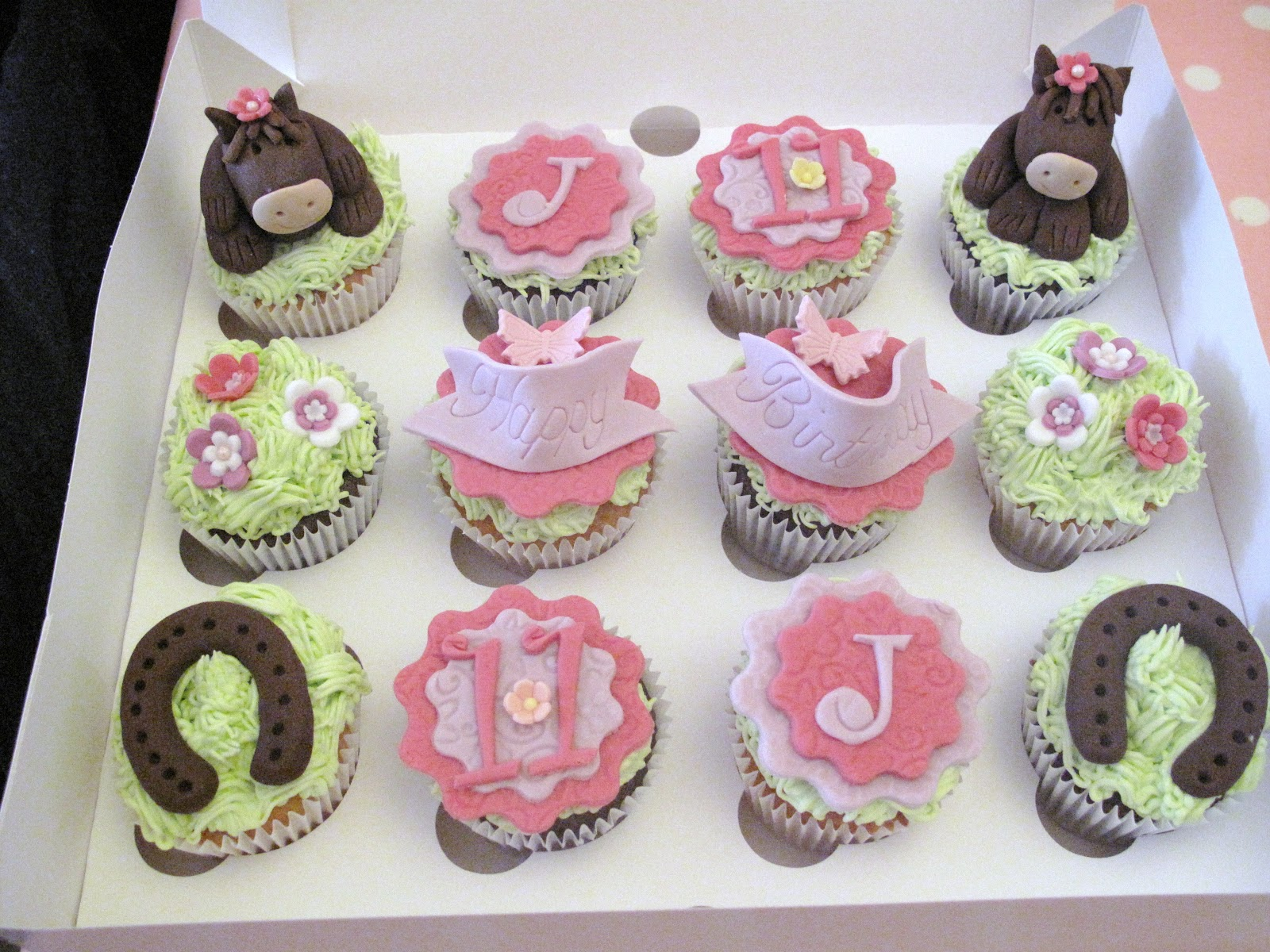Horse Birthday Cupcakes for Girls
