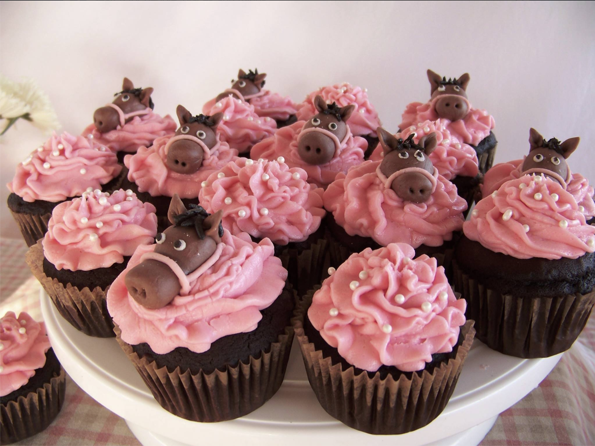 Horse Birthday Cupcakes