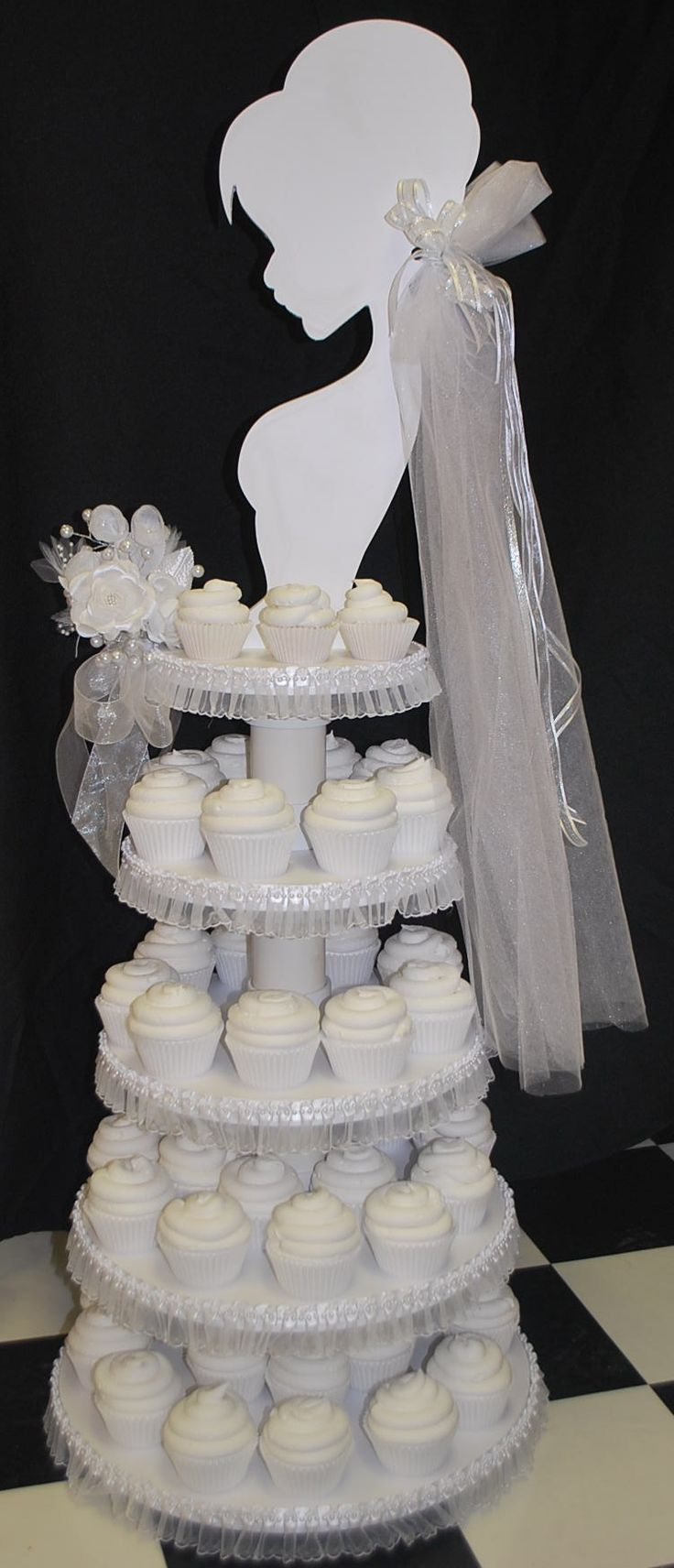 Idea Bridal Shower Cupcake Tower