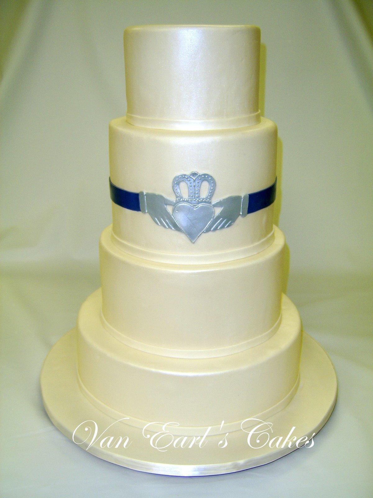 Irish Claddagh Ring Wedding Cake