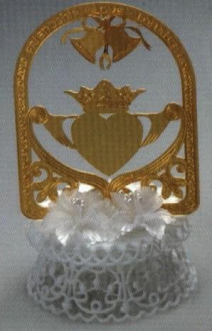 Irish Claddagh Wedding Cake Topper
