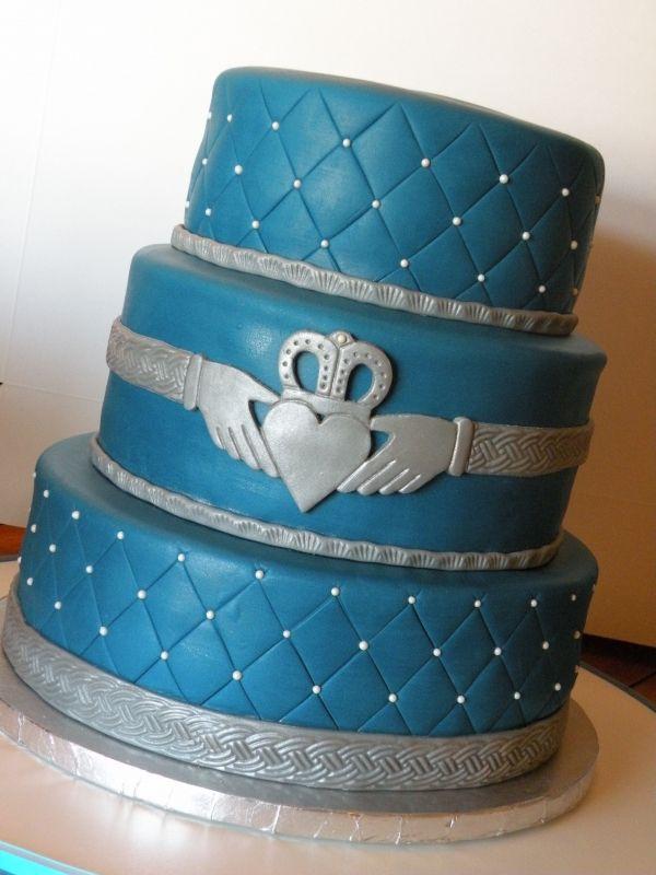 Irish Claddagh Wedding Cake