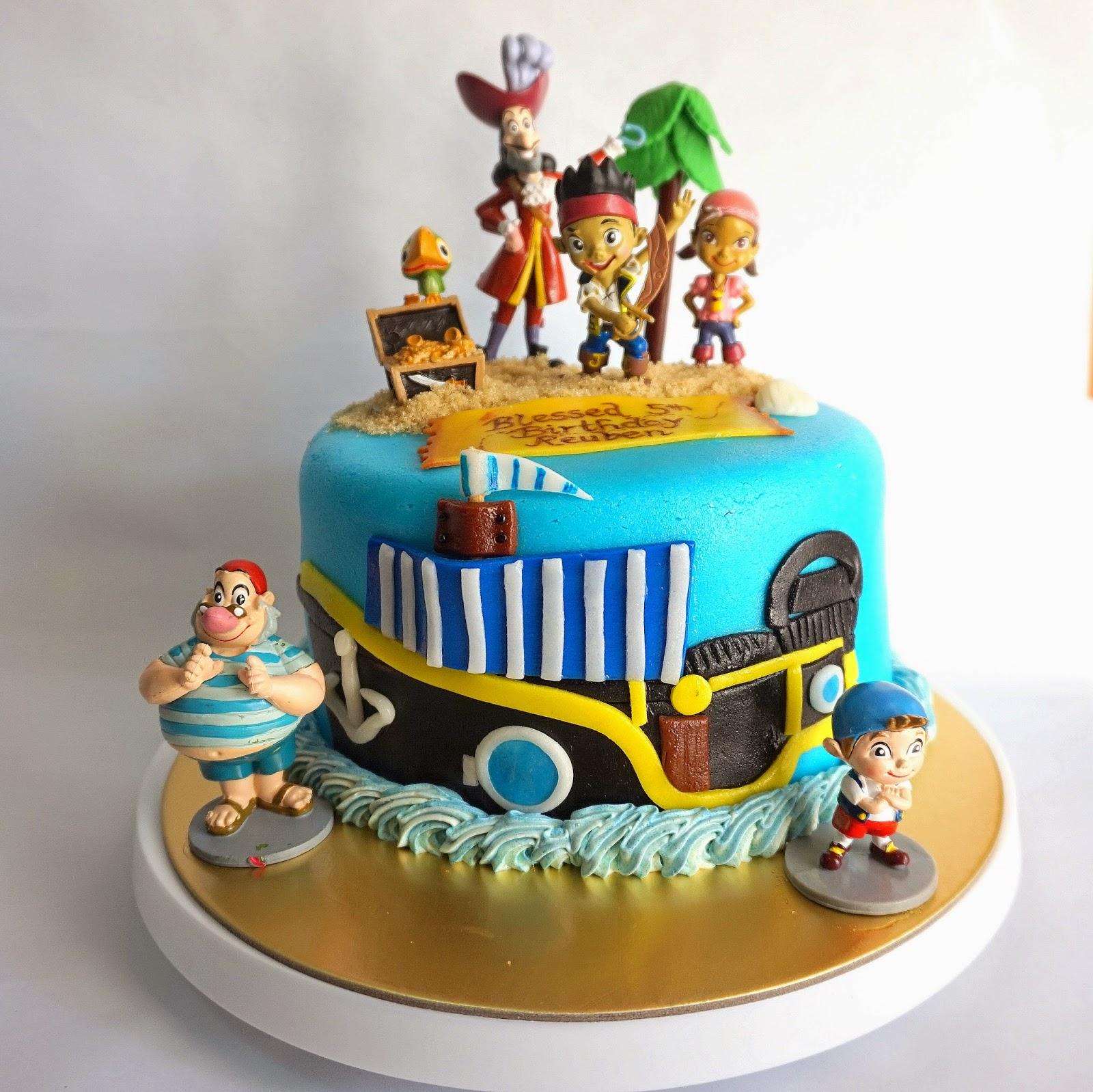 Jack and the Neverland Pirates Birthday Cake