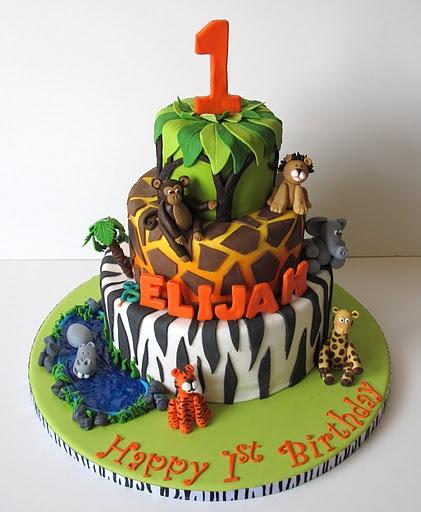 Jungle Safari Birthday Cake
