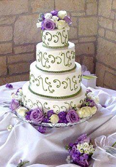 Lavender and Sage Wedding Cake