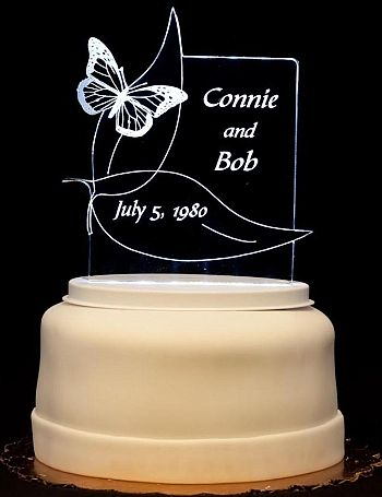 Light-Up Wedding Cake Toppers