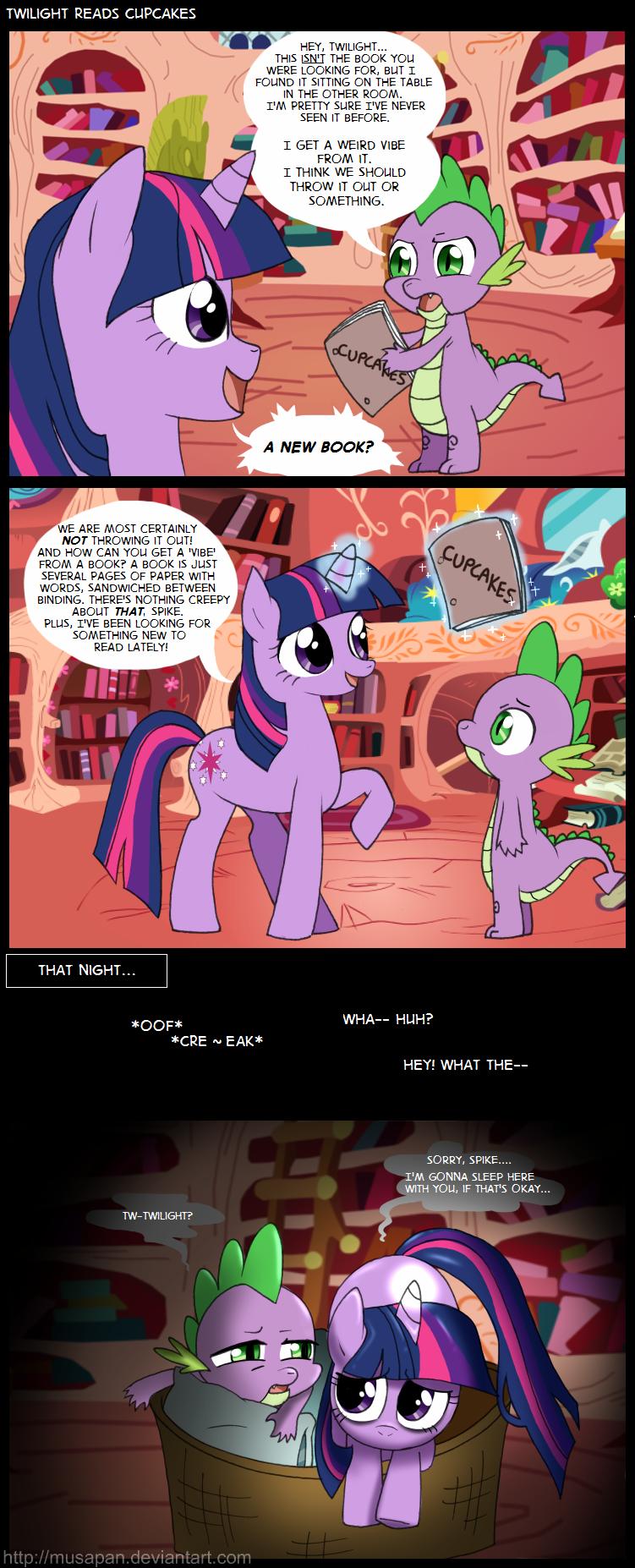 MLP Comics Twilight Reads Cupcakes