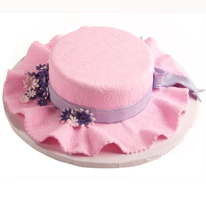 6 Photos of Church Hat Cakes Without Fondant