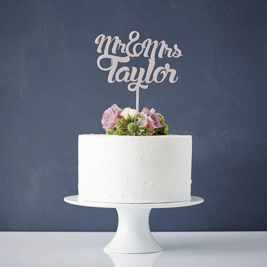 Mr. and Mrs. Wedding Cake