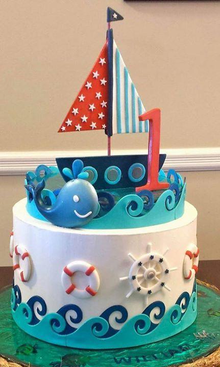 Nautical Baby Shower Cake Ideas