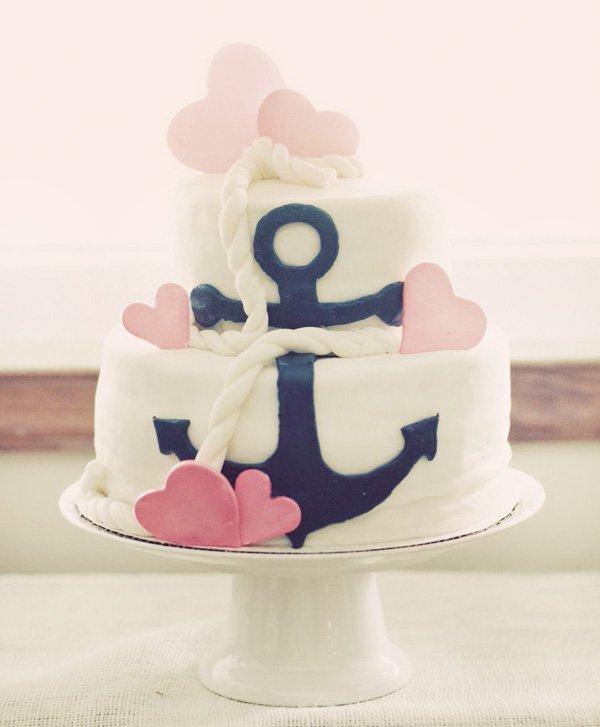 Nautical Theme Birthday Party Cake