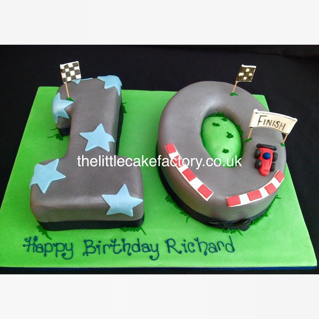 Number 10 Birthday Cake