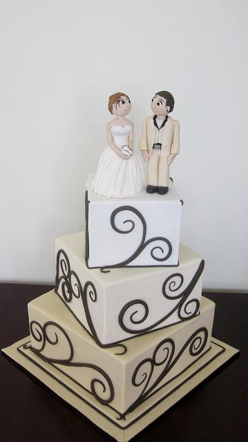 Offset Square Wedding Cake