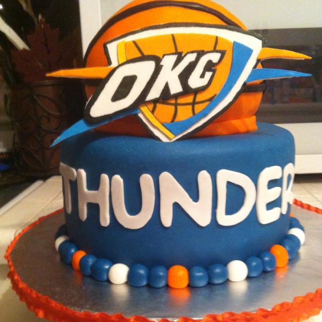 OKC Thunder Birthday Cake