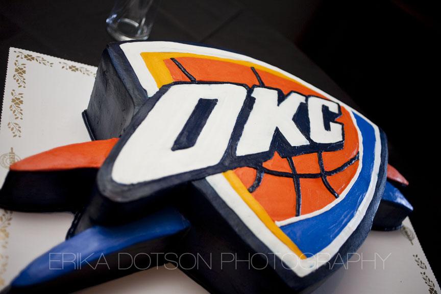 Oklahoma City Thunder Basketball Cake