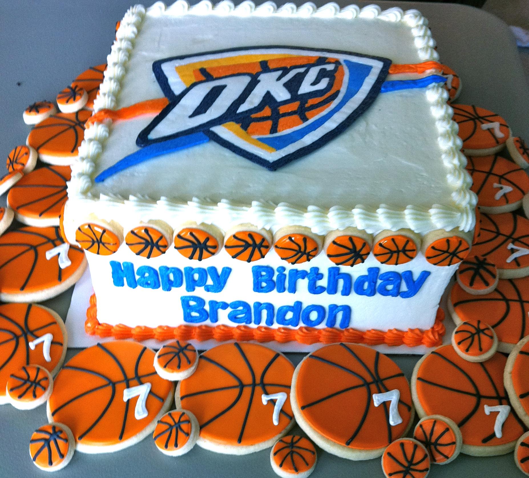 Oklahoma City Thunder Birthday Cake